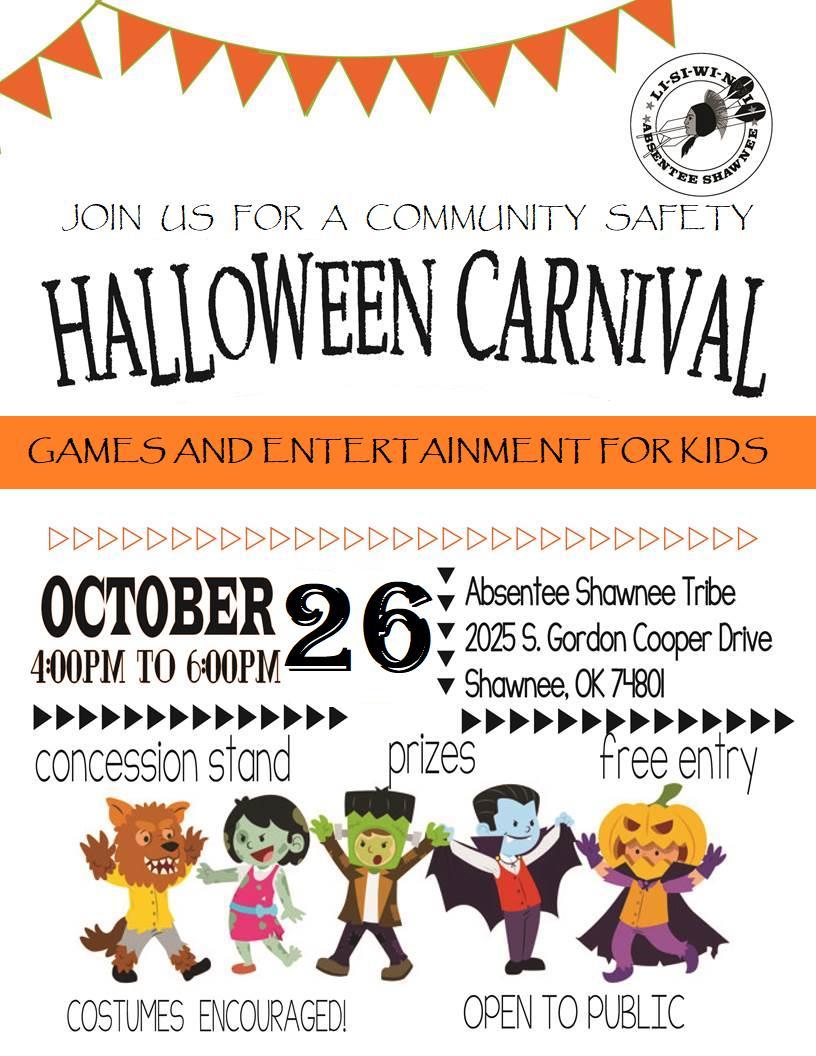 halloween carnival 2018 | absentee shawnee tribe